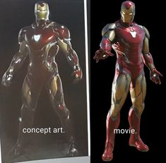 Which version of the mark 85 do you like more? The original design or the final design that we got? Marvel Comics, Marvel Vs, Marvel Concept Art, Iron Man Art, Iron Man Wallpaper, Iron Man Avengers, Curvy Girl Lingerie, Joker Art, Armor Concept