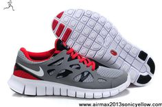 Sale Discount Nike Free Run 2 Grey Red White 443815-016 Womens Fashion Shoes Store