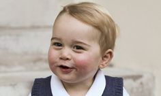 Prince George proudly poses for adorable Christmas portrait