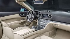 The interior of the Mercedes-Benz SL.
