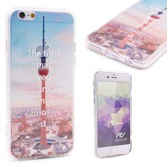Urcover® Semi Softcase Hülle   Apple iPhone 6 / 6s   TPU Muster Fernsehturm Berlin   Kamera-Schutz   Handyhülle   Cover Backcase Handyschutz 7,90€