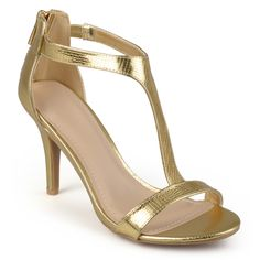 Journee Collection Women's 'Juniper' Open Toe T-Strap Pumps - Overstock Shopping - Great Deals on Journee Collection Heels