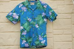 Vintage 80s-90s Hawaii Shirt Orchids Shirt by SycamoreVintage
