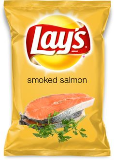 smoked salmon  Smoked Salmon would be a great flavor for a great tasting lay's chip.