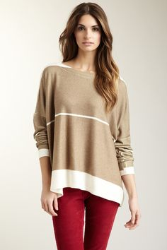 Colorblock Oversized Dolman Sweater by Go Couture on @HauteLook