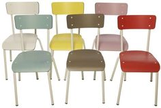 Sedie di design Anni '60 - Sedie colorate