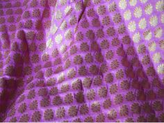 Mauve Pink and Gold Floral Pattern Weaving Brocade Fabric - Indian Silk, Wedding Dress Fabric - Pure Banarasi Silk Fabric by Yard by Indianlacesandfabric on Etsy