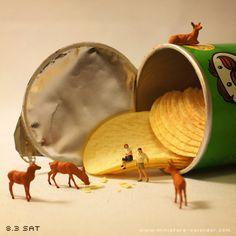 """""""Feeding""""  http://miniature-calendar.com/13803/"""