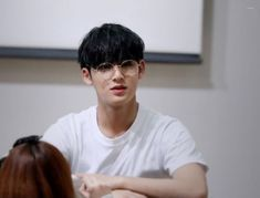 Mingyu with glasses