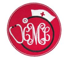 Any nurse would look absolutely adorable when you sport an outfit, bag, or accessory accented with one of these nurse hat monogram patches. This nurse hat monogram patch can be used for your next project in either an iron on or sew on patch. Name Patches, Sew On Patches, Iron On Patches, Nurse Hat, Lululemon Logo, Monogram, Embroidery, Sewing, Hats