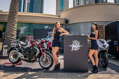 """Thank you to all our friends, customers and fans who gave us a visit two days ago during #trydubai event at @barastibeach. It was great to see the fantastic feedback and interest of people passing by. 👩🏼@jarka.dubai 👩🏻@tamaraking29  #MVAgusta #Passion #PreciselyCrafted #trydubai2017  Interested to join the MV Agusta family? Have any question? Feel free to contact us on tel: +97143218525, email: info@mvagustauae.com, mobile/WhatsApp: +971504046004  For our location search """"MV Agusta UAE""""…"""
