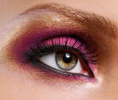 el maquillaje ideal para unos ojos color miel, ámbar..