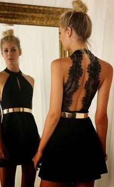 Prom Dresses For Teens, Cut Out Little Black Homecoming Dress With Lace Back Short Prom Dresses Sweet 16 Gowns Backless Evening Gowns For Teens Girls Dresses Modest Black Party Dresses, Lace Dresses, Pretty Dresses, Beautiful Dresses, Short Dresses, Dress Party, Dress Black, Backless Dresses, Sexy Dresses