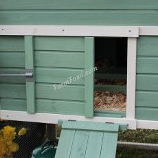 The Amy Chicken Coop is suitable for up to six laying hens and is available in a lovely Sage & White colour. We have this coop currently on a special offer.
