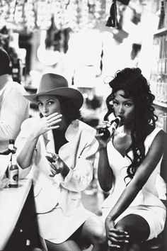 Christy Turlington & Naomi Campbell are two of my very best friends... When we get together its like 3 of the most beautiful women running wild!