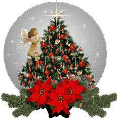 sfera con albero ed angelo