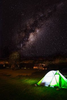 Sleeping Under the Milky Way (New Zealand), by Stephen Milner via 500px