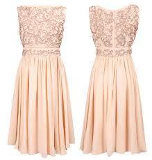 peach dress. Nice dress rehearsal dress.