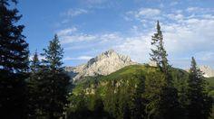 Bergsteiger Alpspitze - the first view of Alpspitze, from Kreuzeck.