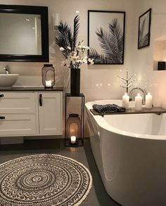Bathroom decor for your master bathroom renovation. Discover bathroom organization, master bathroom decor ideas, bathroom tile ideas, master bathroom paint colors, and more. Modern Master Bathroom, Bathroom Spa, Bathroom Layout, Bathroom Interior Design, Small Bathroom, Bathroom Ideas, Bath Ideas, Bathroom Organization, Restroom Ideas