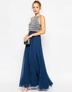 Image 4 ofASOS Embellished Crop Top Maxi Dress