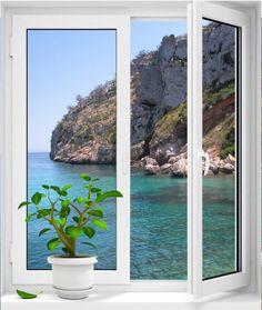 Fotomural decorativo ventana vistas a playita #fotomuraldecorativo #fotomuraldecorativoventanavistaaplayita #devinilosfotomuralventanavistaaplayita