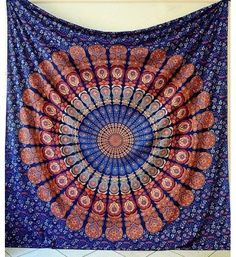 indian mandala wall hanging cotton tapestry