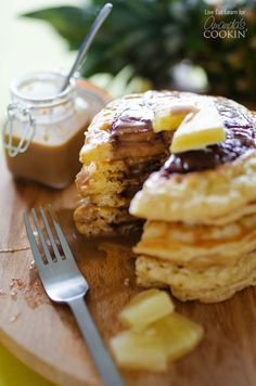 Try these Pineapple Pancakes for a yummy summer breakfast!