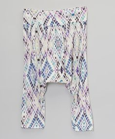 Look what I found on #zulily! White Diamond Ikat Harem Pants - Infant, Toddler & Girls by Pretty Me #zulilyfinds