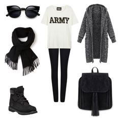"""""""Untitled #438"""" by aatk on Polyvore featuring Giorgio Armani, NLST, Timberland, Lacoste, women's clothing, women's fashion, women, female, woman and misses"""