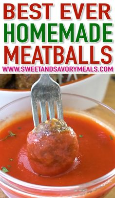 Homemade Meatballs are so simple and easy that you will never ever again use store-bought. Homemade Meatballs are so simple and easy that you will never ever again use store-bought. Meatball Recipes, Pork Recipes, Cooking Recipes, Healthy Recipes, Potato Recipes, Crockpot Recipes, Vegetarian Recipes, Chicken Recipes, Recipies