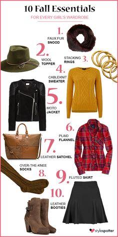 Wardrobe Staples: Top 10 Fall Essentials #fall #fashion #topten