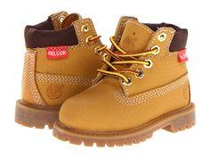 "Timberland Kids 6"" Premium Waterproof Scuff Proof II Boot (Toddler/Little Kid) Wheat Rebar - Zappos.com Free Shipping BOTH Ways"