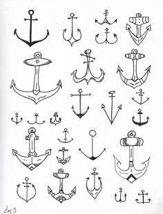 love these anchor doodles.