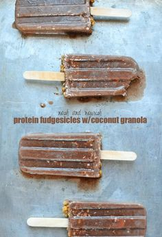 Protein Fudgesicles with Dark Chocolate Coconut Granola | Cascadian Farm | Farm Blog