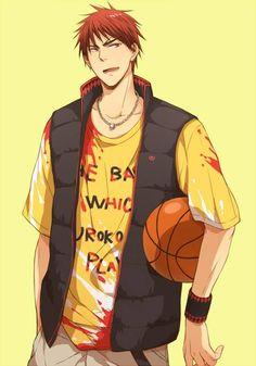 Kuroko no Basket - Kagami Taiga - 火神 大我 Kuroko No Basket, Anime Nerd, Anime Guys, Manga Anime, Kagami Kuroko, Kagami Taiga, Kise Ryouta, Kurokos Basketball, Takao Kazunari