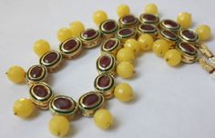 Handmade Double Sided Necklace with Yellow by ArmCandyForYou, $50.00