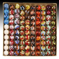 antique and vintage marbles | Christensen Agate Special Marbles - Morphy Auction Report May 2008 ...
