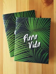 Pura Vida! - Part of our Tropicale line this notebook will leave you lusting for a jungle adventure! This notebook design was inpsired by our recent trips to Costa Rica. The first moment I walked thro