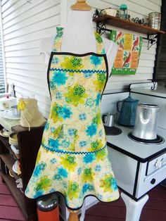 Green and Turquoise Apron ...
