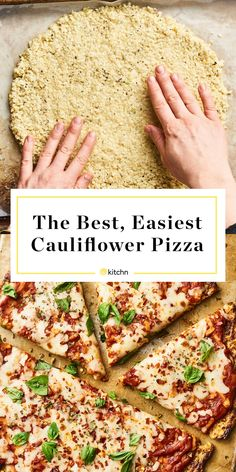 How To Make the Best, Easiest Cauliflower Pizza - Weight Watchers - Blumenkohl Easy Cauliflower Pizza Crust, Califlower Pizza, Frozen Cauliflower Rice, Califlour Pizza Crust, Cauliflower Salad, Roasted Cauliflower, Low Carb Recipes, Cooking Recipes, Healthy Recipes