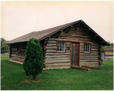 The cabin home of famed sharpshooter Annie Oakley, where she lived with her family while working on Long Island and in Manhattan. Currently in John Burns Park, Massapequa.  Photo Credit: Newsday