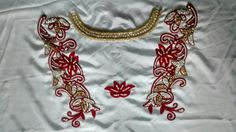 The red & white contour caftan 2106