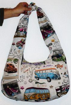 Die große Bullibag  ***Hippie*** von Kat - Design  -  Die Fadenhexe auf DaWanda.com