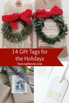 14 Easy DIY Gift Tag Ideas For The Holidays - Seeing Dandy : So many great DIY gift tag ideas for the holidays! Christmas Presents For Girls, All Things Christmas, Christmas Holidays, Christmas Crafts, Christmas Decorations, Christmas Ideas, Christmas Planning, Holiday Decorating, Christmas Recipes