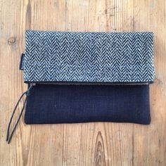 Clutch made of a recycled wooljacket. By Johanna Sandberg