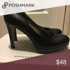 "Black leather hills Black banana leather banana republic hills. ""Kate"" bannana republic Shoes Heels"