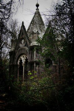 Old cemetery;  Haunted Attractions digital magazine; Suppose to be creepy abandoned dwellings