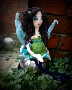 My first #knitted #faerie #handmade #doll #pagan #nature ♥