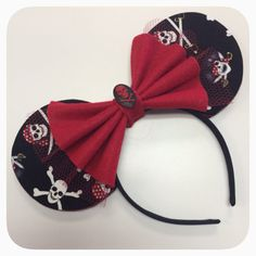 A PIRATE'S LIFE Custom Mouse Ears  by ShesAllEars on Etsy